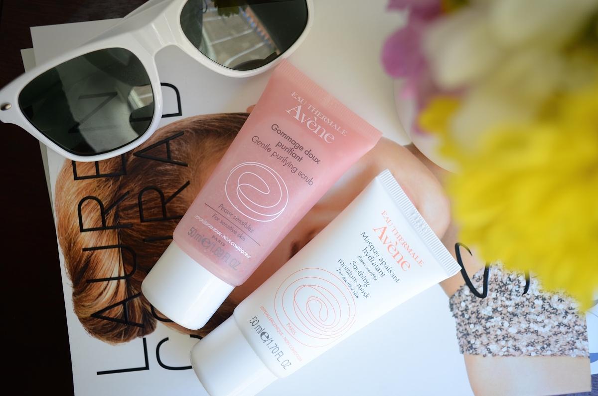 Dos opciones de Avène para exfoliar y calmar la piel sensible