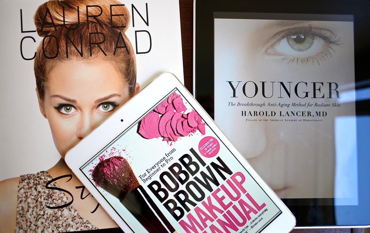 Tres libros sobre belleza, moda, maquillaje y cuidado de la piel