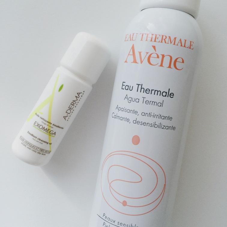 Aderma Exomega Aceite de ducha y Agua termal de Avene