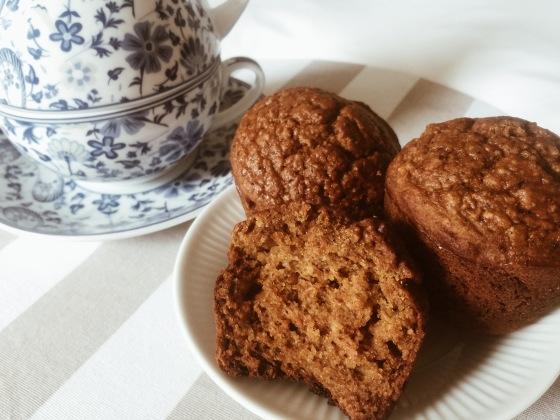 Muffins de zapallo y zanahoria. Sin gluten y sin l�cteos