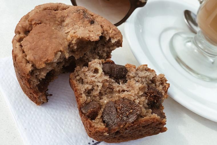 Muffins proteicos con higos y miel
